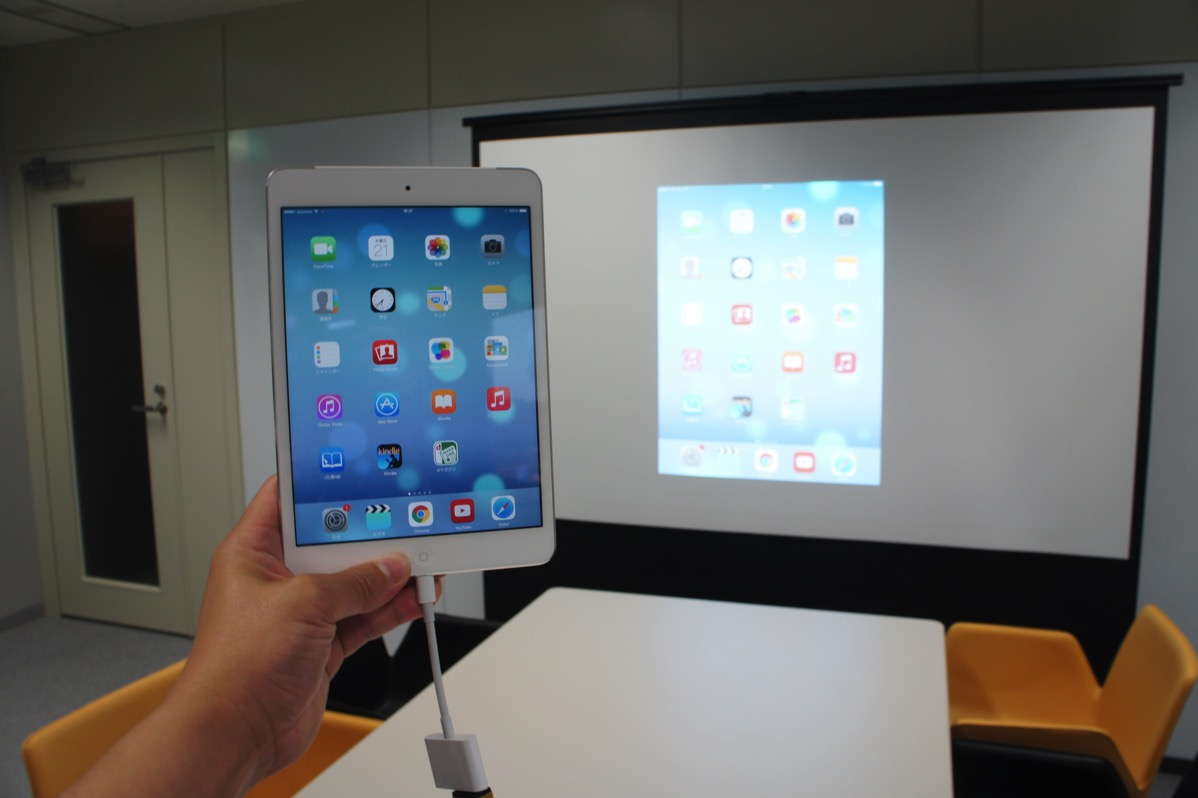 Ipadの画面が表示