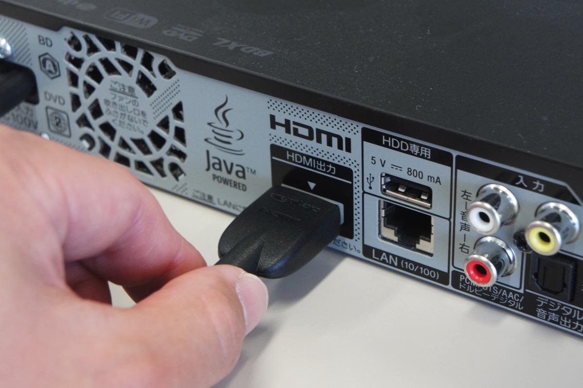 DVDプレーヤーにHDMI接続