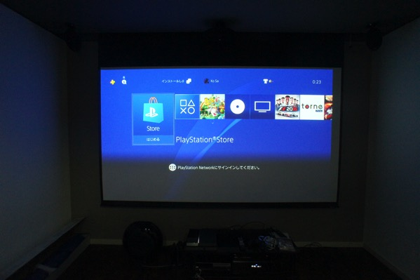 PS4 プロジェクター接続可能